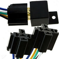 12V 5P 5 Wire Automotive Changeover Relay with Bracket 40A 5-Pin Car Bike Van