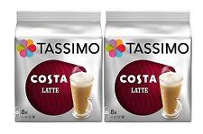 2 paquetes Tassimo Costa Café con leche vainas de discos de T - 32 T Discos De 16 tazas de bebidas Grande 325ml