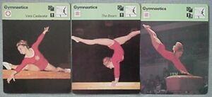 1977,78 VERA CASLAVSKA GYMNASTICS CARDS (3) - CZECHOSLOVAKIA