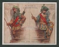 Giants Gog And Magog Wooden Figures Guildhall London 1930s Ad Trade Card