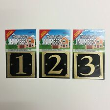 House And Gate Numbers Brushed Gold Metallic Effect