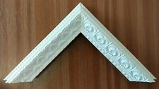 4 x 90cm lengths (3.6m) of 34mm Decorative White Polcore Picture Frame Moulding