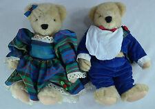 Fluffy & Fuzzy VanderBear 1986 Holiday Collection NABCO Taffeta Plaid HTF