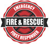 Volunteer FIRE fighter department  DECAL STICKER pick size full color print cut
