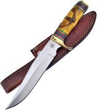 Frost Cutlery Yellow Bone Fixed Blade Hunting Bowie Knife w/Sheath W609YB