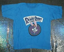 VINTAGE ROGER RABBIT 1987 DISNEY AMBLIN promo T-SHIRT MADE IN ITALY Tg.S VISCOSA