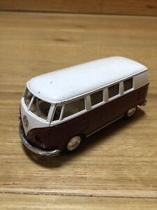 Kinsmart VW Classical Camper Van Bus 1962 1:32 Scale Red White Diecast Pull Back