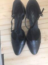 Freed T-Strap Women's Ballroom Dance Shoe Black, US Size 7.5M, English Size 5.