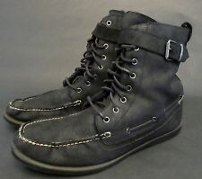 POLO Ralph Lauren Men's Size 14 D Brentwood Black Leather Shearling Lined Boot