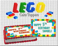 Lego Birthday Cake topper Edible paper sugar sheet frosting wafer image picture