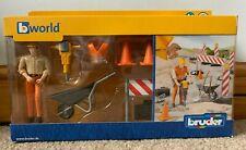 Bruder Bworld 62000 Construction Figure / Road Worker Set Never Taken Out Of Box