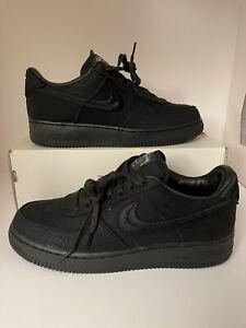 Size 12 - Nike Air Force 1 Low x Stussy Triple Black