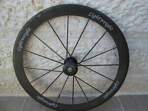 FOR REPAIR Lightweight Meilenstein 16Spoke FRONT Tubular Carbon Wheel 497g 53mm