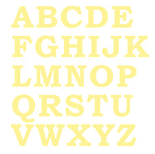 """FABRIC LETTERS IRON ON 3/"""" SIZE OLD STYLE Die Cut NEW Colours"""
