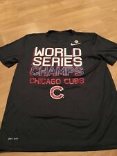 Men's Nike Chicago Cubs 2016 World Series Champions Tee Large L