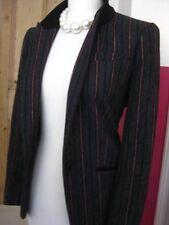 LADIES RIVER ISLAND wool mix striped jacket blazer UK 12 school retro hipster