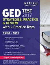 Kaplan Test Prep: GED Test 2017 Strategies, Practice and Review with 2...