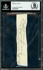 General George S. Patton Signed Cut Signature Autographed Beckett BAS AUTO