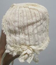 Vintage Lace baby or doll bonnet COSTUME