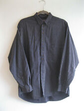 PAUL SMITH SPORTSWEAR | Men's Navy Blue Pinstripe Hidden Placket LS Shirt | M L