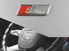 AUDI S LINE SLINE S-LINE matt Lenkrad wheel Emblem Aufkleber Sticker Logo