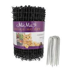 MiMu Cat Deterrent Mat Outdoor Indoor Cat Repellent Spike Mat - Black 13ft Roll
