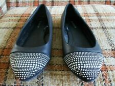 Torrid Womens 11 Black Flats Studded Toe Cap