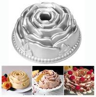 Bundt Pan Originality Cake Pan Non-Stick Bakeware Aluminum Baking Pan (Rose)