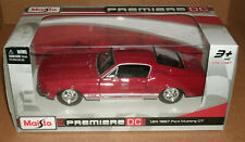 1/24 Scale 1967 Ford Mustang GT 289 Fastback Diecast Model Car Maisto 31260 Red