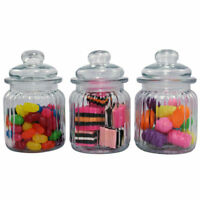 3 Glass Apothecary Candy Lolly Buffet Jar Candle Waxing, Wedding & Party 300ml