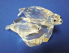 Swarovski Crystal 1991 'Save Me' Annual Edition Seals Figurine mother & baby