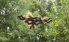 Handmade Wooden Primitive Skydiving Tribal Statue Parachuting Tiki Bar Figurine