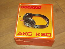 AKG K80 Stereo Vintage Headphones N.O.S Made in Austria Ear pad need replaced