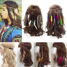 Böhmen Feder Haarband Ethno Haarreif Kopfband Kopfschmuck Indianer Stirnband