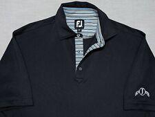 FootJoy Golf Polo Shirt Black Jackson Country Club Tennessee Medium M