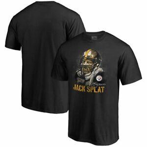Jack Lambert Pittsburgh Steelers Champs T Shirt Funny Black Cotton Tee Gift Men