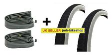 Pair of 20 x 1 3/8 WHITE WALL Raleigh Record Tyre & Tube 37-451 Bicycle Bike