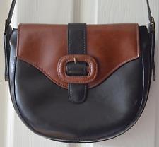 Urban Outfitters black / brown faux leather women's handbag bag satchel buckle
