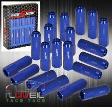 M12 X 1.5mm Aluminum Extended Tuner Wheels Rims Lug Nuts 20Pcs Jdm Vip Blue