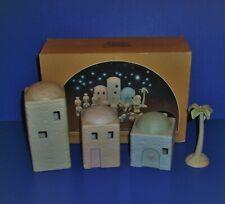 Precious Moments House Building Set And Palm Tree Mini Nativity Addition E2387