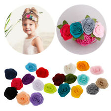 10pcs/lot Diy Handmade Felt Rose Flower for Headband Hair Accessories Ornaments