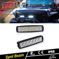 "2x 6INCH 36W LED WORK LIGHT BAR Spot OFFROAD FOG DRIVING 4WD BOAT ATV SUV 7"""