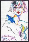 original drawing A5 326LN art modern marker female portrait fashion sketch