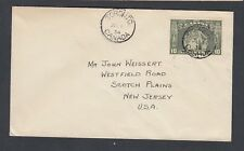 CANADA 1934 10C LOYALISTS FIRST DAY COVER FDC TORONTO TO NEW JERSEY USA