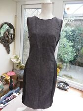 New listing Laura Ashley quality lined dress grey/black silhouette style statement zip 14