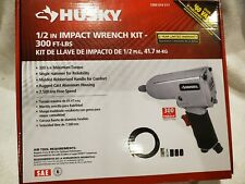 NEW Husky Air Powered 1/2 inch Impact Wrench w/ ACCESSORY KIT