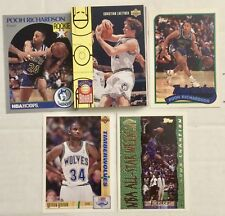 30 CARD LOT Of NBA MINNESOTA TIMBER WOLVES / Late 80's-Late 90's NO Dups