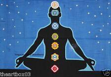 Seven Chakra Lord Buddha Indian Cotton Mandala Drom Decor Wall Hanging Poster