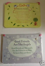 Metal Sign Special Words Good Friends Like Angels or Special Friend Shabby Chic
