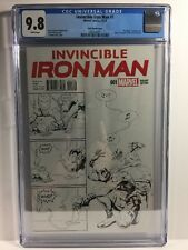 Invincible Iron Man #1 - CGC 9.8 - Putri Party Sketch Cover (1 Per Store)